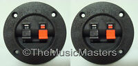 2 Screw In Terminal Cups for Car Home Audio Stereo Speaker Box Cabinet Enclosure