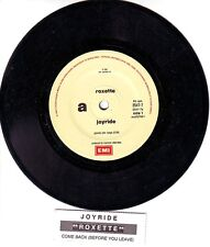 "ROXETTE  Joyride 7"" 45 rpm vinyl record + jukebox title strip"