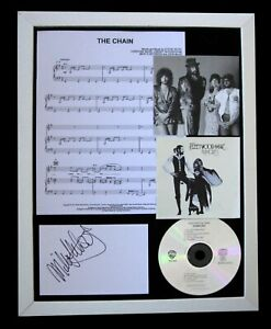 FLEETWOOD MAC+SIGNED+FRAMED+THE CHAIN+RUMOURS=100% AUTHENTIC+EXPRESS GLOBAL SHIP