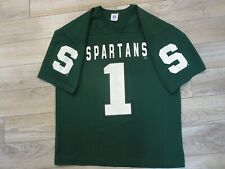 Michigan State Spartans #1 Football Logo 7 Jersey LG L mens