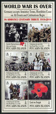 Pitcairn Islands 2018 MNH WWI WW1 World War Armistice 6v M/S Military Stamps