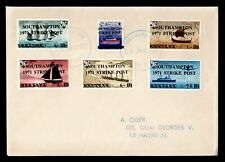 Dr Who 1971 Gb Strike Mail Southampton Ship Ovpt f50726