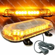 34W LED Emergency Vehicle Tow Towing Truck Strobe Warning Mini Light Bar - AMBER