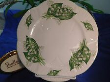 "SHELLEY  LILY  OF  THE  VALLEY    DAINTY SHAPE 8"" SALAD PLATE # 13822"