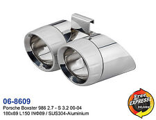 Sorties d'échappement en aluminium pour Porsche Boxster 986 2.7 - S3.2