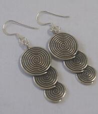 Earrings silver Karen hill tribe handmade
