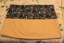 Bowtie themed Twin Flat Sheet, Gold, 100% Cotton Sateen B3L
