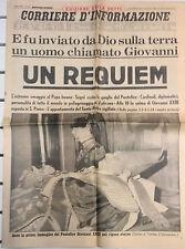 1963 @ LA MORTE DI PAPA GIOVANNI XXIII @ UN REQUIEM da  CORRIERE D'INFORMAZIONE