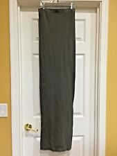 VENUS Olive Green Nylon Strapless Long Maxi Tube Dress, X-Small
