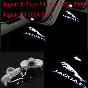 2 LED Jaguar Logo Door Courtesy Welcome Shadow Projector Lights For XJ 2010-2019