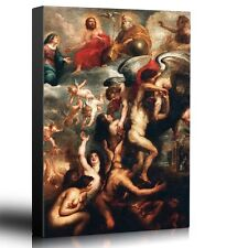 """Wall26 - Oil Painting of """"The Deliverance of Souls from Purgatory"""" -Canvas-24x36"""