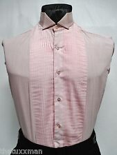Boys X-Small Light Pink Wing Collar Tuxedo Tux Shirt Retro Vintage Color Costume