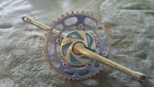 OLD SCHOOL BMX 175mm TAKAGI CRANKS WITH A TIOGA SPIDER SUNTOUR 45 T GEAR VINTAGE
