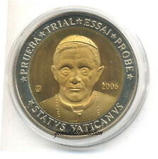 PAPA BENEDETTO XVI 10 EURO 2006 TRIAL ESSAI PROBE STATVS VATICANVS MEDAGLIA