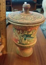 Museum Replica Thera Greece 1200Bc Ceramic Pottery Urn Dish Minoan Krater Greek