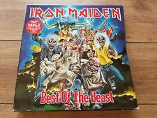 "IRON MAIDEN ""BEST OF THE BEAST"" 4 LP LIMITED EDITION BOX SET 1996 UK RARE!"
