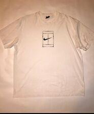 vintage nike t shirt mens Size M 90s Dri Fit USA Big Nike Tennis Court Swoosh