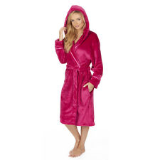 Ladies/Girls Super Soft Hooded Fleece Dressing Gown/Bathrobe/Robe Size 8 - 30