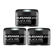 Elegance Plus Gel + Color (Cover White Hairs) (3.5oz/100ML) - Black (3 PACK)