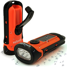 iGadgitz Xtra 5m Waterproof Eco Rechargeable Solar & Hand Crank LED Torch 5