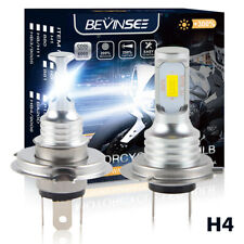 Bevinsee H4 LED Headlight Bulb For Honda CBR250R 2011 2012 2013 Replaces Halogen
