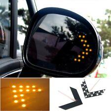 2PCS Clignotant Rétroviseur Flèche 14 SMD LED Jaune pour Voiture Lampe 4.7*4cm