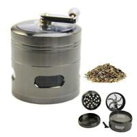 "New Handle Mill Grinder 4 Layer 2.5"" Herb Tobacco Spice Crusher Metal Storage FZ"