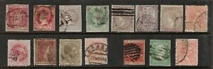 Spain 1854- collection of 15.Used.Fine.