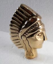 Polish Style Solid Brass Red Indian Head Handle For Walking Stick Hood Ornament