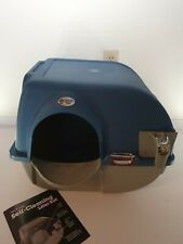New Omega Paw Premium RA15 Large Roll 'n Clean Litter Box for Cats Blue