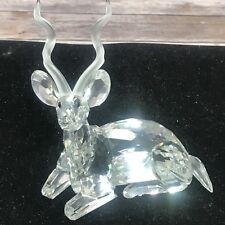 1994~Swarovski Crystal~Retired~Kudu~Mint ~Scs ~Inspiration Africa~Coa, Box