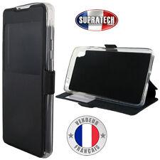 Etui Rabattable Noir Avec Ouverture Ecran pour Sony Xperia E5