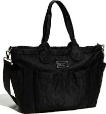 Marc by Marc Jacobs Preppy Nylon Eliz-a-baby Quilted Black Diaper Bag $348