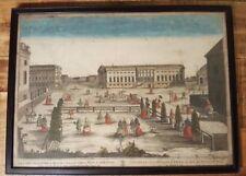 Engraving - Vista De La Casa Real De L'Opera ... 18th Century, Hand-Colored