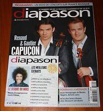 MUSIQUE Revue DIAPASON n°562 Oct. 2008 Avec le CD du mois Frères CAPUçON