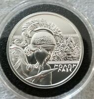"1 oz .999 silver shield Proof /"" the Crucible /"" Greek Warrior king Leonidas SSG"