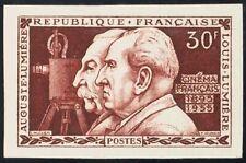 Francia. MNH Yv 1033a. 1955. 30 Fr Auburn Rojo. Sans Dentar. Magnifico. Yvert