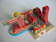 SEA FIRE STATION  FOR WOODEN TRAIN TRACK ( Brio Thomas  ) ~ NEW