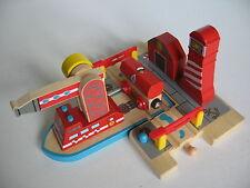 SEA Vigili del Fuoco in legno per binario treno (Brio Thomas irritabile Crain) ~ NUOVO