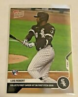 2020 Topps Now Baseball First Career Hit - Luis Robert RC - Chicago White Sox