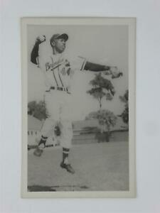 Hank Aaron 3x5 Real Photo Postcard RPPC Kodak Milwaukee Braves RARE