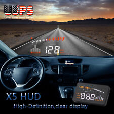 Universal X5 LCD GPS Car HUD Head Up Display OBD II Speeding Warning Plug-Play