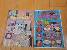 2 old TO BE ANNOUNCED Comic books #1,2 Strawberry Jam comics free shipping