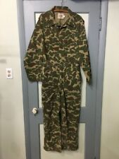 Vtg 60s 70s Camouflage Coveralls Mens M Cotton Camo Jumpsuit Hunting Overalls