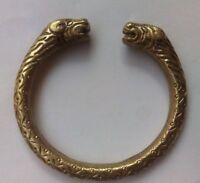 Designer Heavy Brass Bracelet Cuff Kada Kadaa Kara - Men Women Fashion Class