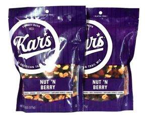 2 Bags Kar's 13.25 Oz Nut N Berry American Trail Mix Best By 8/5/2021