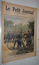 PETIT JOURNAL 1898 ALLEMAGNE RIXE SOLDATS OFFICIERS BAVIERE / MORT BISMARCK