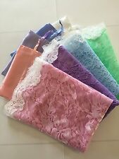 Lot of 4 Pastel child pink blue green lavender veil mantilla church chapel small