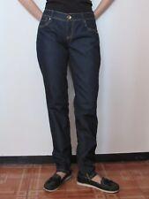 Benetton - Jeans donna mod.Skinny taglia 30 blu notte con cerniere e strass