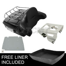 Chopped Pack Trunk Backrest Solo Mount Rack Fit For Harley Tour Pak 2014-2021